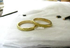 ハンマー仕上げ、結婚指輪