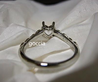 ハートシェイプダイヤ、0.7ct、婚約指輪