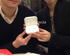 結婚指輪と、お客様