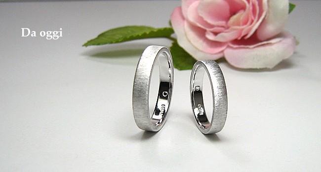 平打ちの結婚指輪・プラチナ