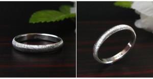 甲丸・結婚指輪・プラチナ