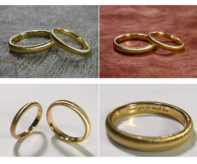 甲丸・結婚指輪・ゴールド