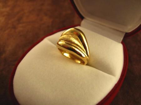 ゴールドのリング・オーダーメイド